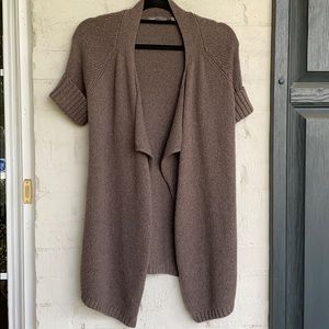 Vince short sleeve open front wool cardigan